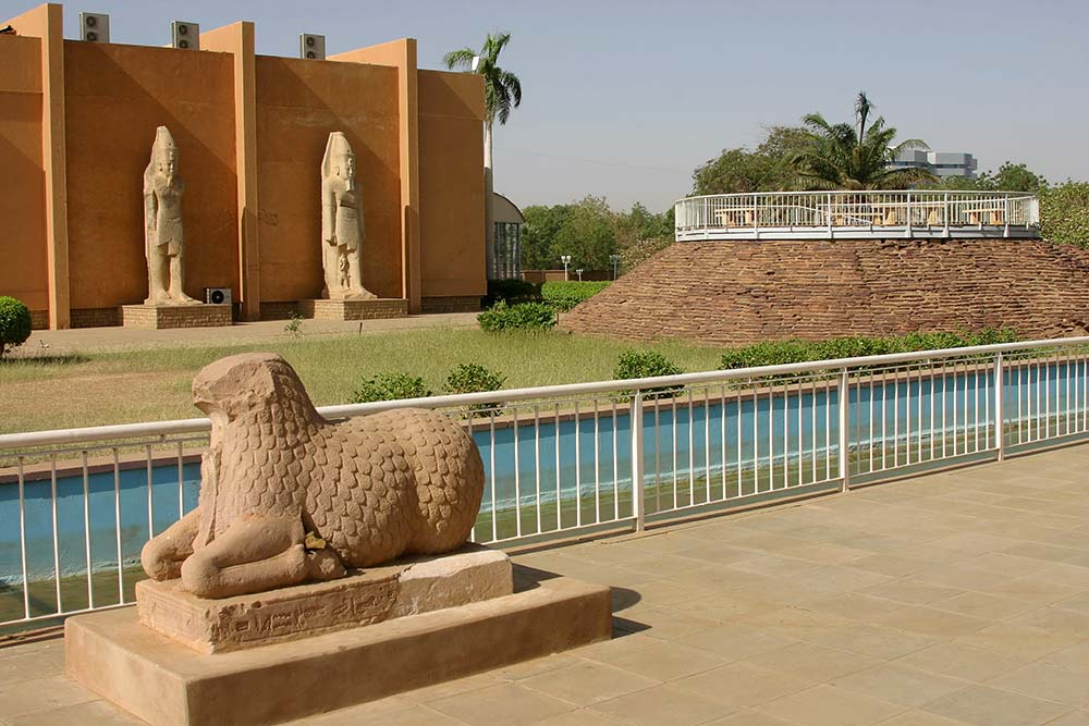 Khartoum Outer Courtyard Of The National Museum Of