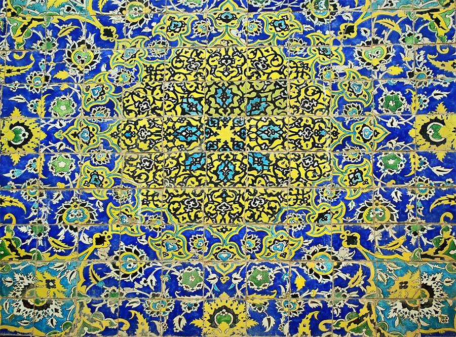 Kerman masjed e jame la moschea masjed e jame mosaici - Piastrelle in maiolica ...