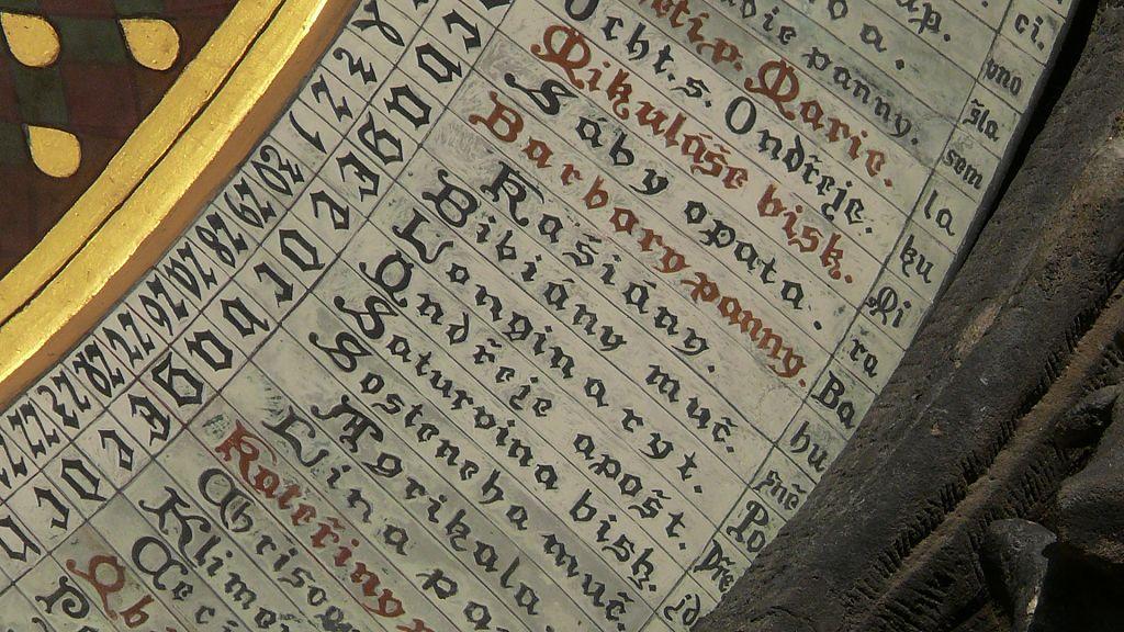 Calendario Particolare.Orologio Astronomico Un Particolare Del Calendario Dei