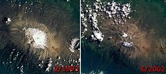 Kilimanjaro: ghiacciai a confronto
