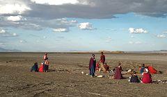 Masai sul Natron asciutto