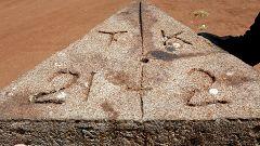 Tanzania-Kenya border stone