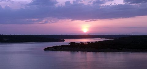 Sunset at Kazinga Channel