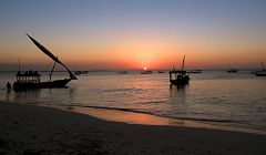 Zanzibar: Mwanda - tramonto