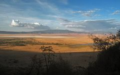 Ngorongoro: vista da SO