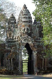 La porta settentrionale dell'Angkor Thom