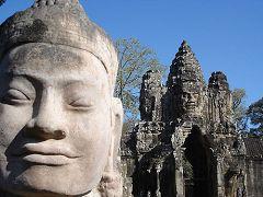 La porta meridionale dell'Angkor Thom
