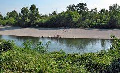 Gombito: spiaggia sull'Adda