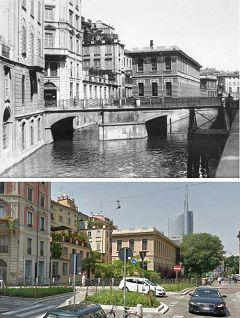 Milano: Via san Marco - Via Castelfidardo