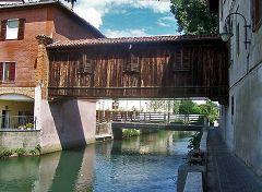 Gorgonzola: ponte di legno