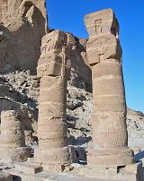 Colonne del tempio di Amon e Mut