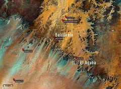 Mappa con vista sul passo di El Aqaba