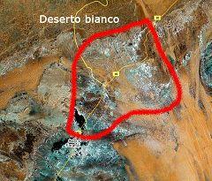 Mappa del Deserto Bianco