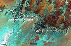 Mappa grotte Nuotatori e Mestekawi