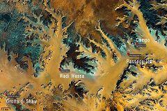 Mappa del Wadi Wassa e Grotta di Shaw