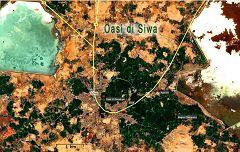 Mappa dell'oasi di Siwa