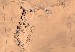 Pianta delle piramidi di Meroe