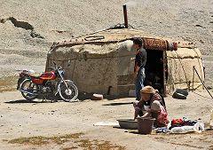 Yurta sull'altopiano del Pamir