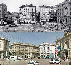 Piazza Cordusio - palazzi Assicurazioni e Credito