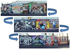Belfast: murale Falls Road Wall