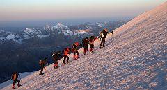 Sotto la cima est - 5000 m.