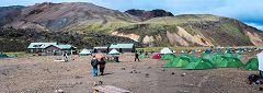 Landmannalaugar, campeggio