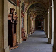 Il chiostro del convento di Loreta