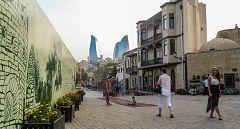 Vie del centro di Baku