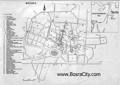 Mappa di Bosra
