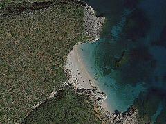 Cala della Capreria (dal satellite)