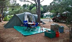 Calvi: campeggio