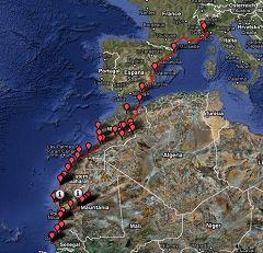 Viaggio motociclistico Italia-Dakar