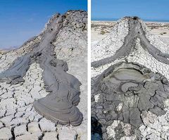 vulcani di fango a Gobustan