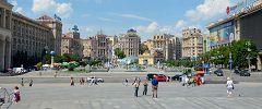 Kiev: piazza Indipendenza