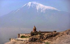 Monte Ararat visto dal Monastero di Khor Virap