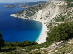 Myrthos beach vista dal viewpoint meridionale