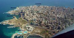 Beirut, vista aerea