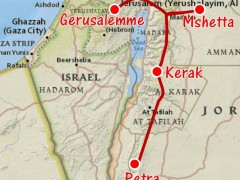 Tragitto da Gerusalemme a Petra