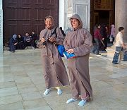 Damasco: pellegrini alla moschea