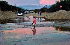 Bañado: torrente in piena