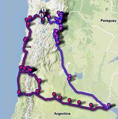 Cile-Argentina in moto