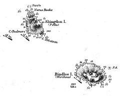 Mappa Bindloe e Abingdon