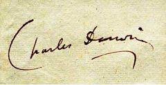 La firma di Charles Darwin