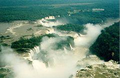 Le cascate viste dall'elicottero