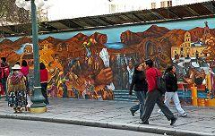 La Paz: murale nel Prado