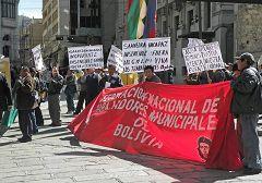 La Paz: manifestazione