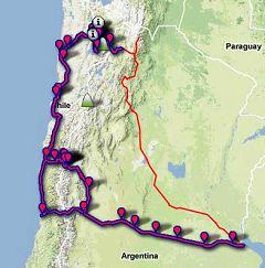 Tour in moto Cile-Argentina