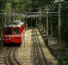 Il treno che sale al colle del Corcovado