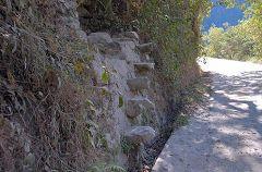 La strada che sale al Machu Picchu